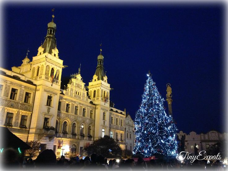 The main square looks even prettier when Christmas lights're up.