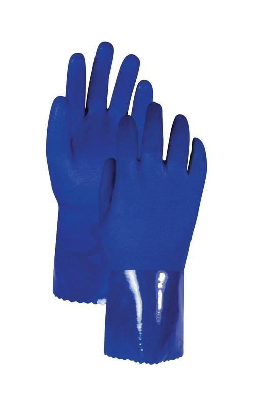 Handmaster NB95TL Universal Large PVC Chemical Gloves, Blue