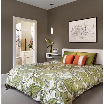 Contemporary Modern Retro Bedroom By Laura Britt Bedspread Is A Little Busy