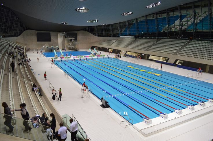 London aquatics centre olympic park london e20 2zq swimming pools in london pinterest for Swimming pools with slides in london
