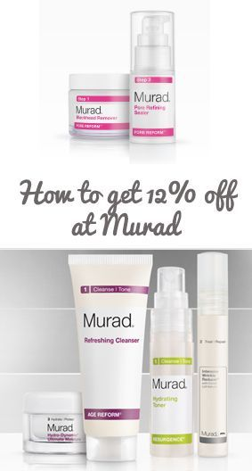 How to get a 12% discount on all Murad skincare product  http://murad.deals #Murad #skincare