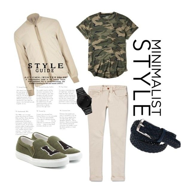"""Military-Style"" by guruolivella on Polyvore featuring Hollister Co., Incotex, River Island, Joshua's, Citizen, men's fashion y menswear"