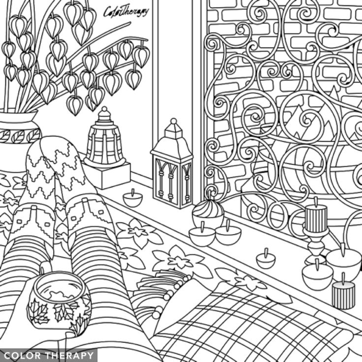 Color Therapy For Your Home: 1707 Best Coloring Pages For Adults Images On Pinterest