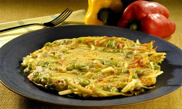 Receita de Fritada de legumes - Omelete - Dificuldade: Fácil - Calorias: 304 por porção