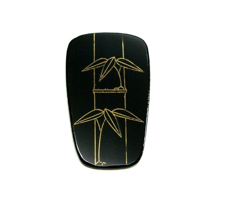 Bamboo Brooch Japanese Lacquer Cloisonne Black Gold Japanese Art Gothic Samurai Urushi Asian Art Ninja Jewelry Mens Accessories Anniversary by MifuneJAPAN on Etsy