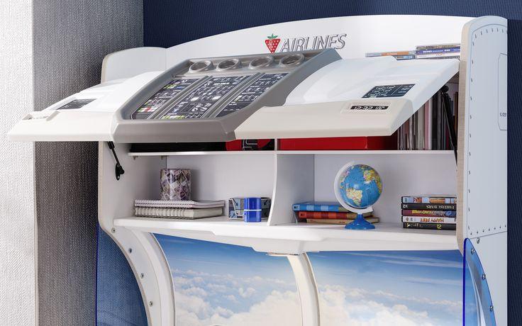 #firstclass #pilot #dekorasyon #decoration #cocukodasi #oda #room #conceptroom #flight #airline #design #masa