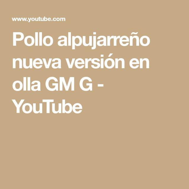 Pollo alpujarreño nueva versión en olla GM G - YouTube