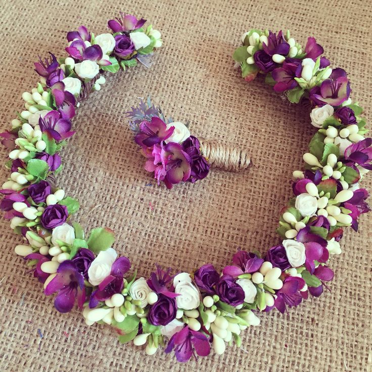Çiçekli taç / Flowerband www.masalsiatolye.com
