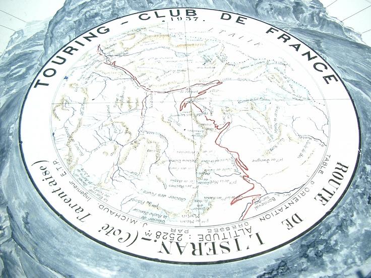 Tavola d'orientamento al Colle dell'Iseran (mt. 2528) - Francia