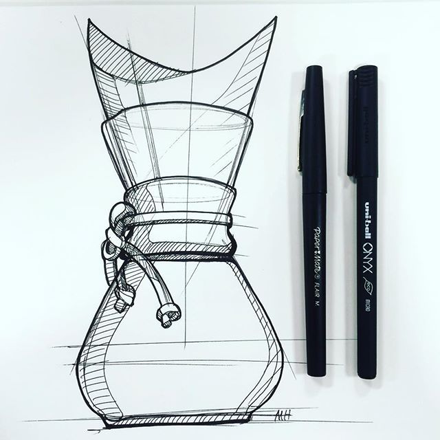 One of my favorite pour overs @the_chemex #chemex #coffee #industrialdesign #id #sketch #design #sketchzone