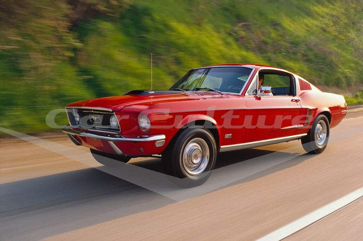 Ford Mustang Cobra Jet 428 - Open Edition Print