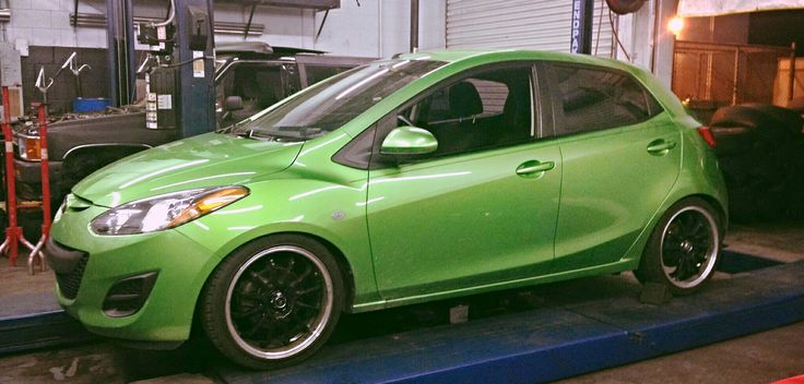 """My 2012 Mazda 2! Lowered 2"""" in front and rear, on 17"""" rims <3 <3 <3 <3"""