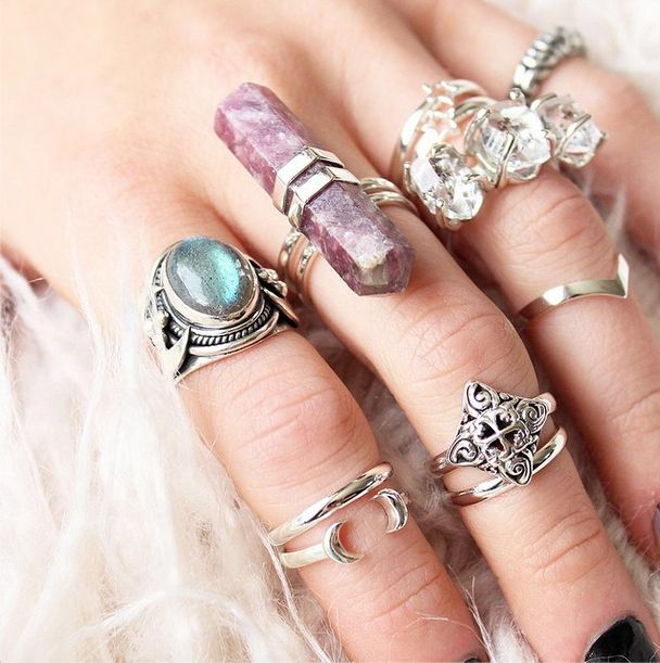 Magical treasures from our Supernova collection in store now! Stack them up! at Shop Dixi .|. www.shopdixi.com .|. gypsy .|. gypsy rings .|. jewellery .|. jewelry .|. boho .|. bohemian .|. hippie .|. sterling silver .|. universe .|. iridescent .|. moonstone .|. crystals .|.