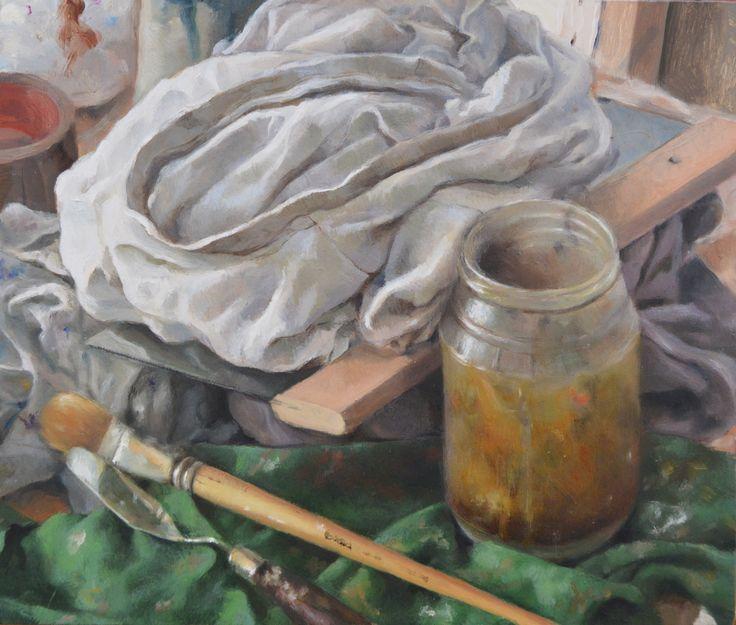 Oil on wood - 35,5 x 30 cm