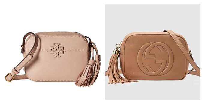 7724a8852 Bag Review Dupe for Gucci Soho Disco Bag in Rose Beige Leather Tory Burch  McGraw Camera Bag in Devon Sand