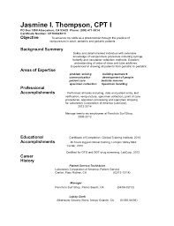 Image result for resume examples for phlebotomist