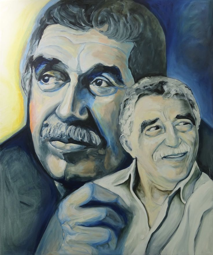 'Vele jaren later' Gabriel García Marquéz, Oil on linnen, painting Esther Eggink, 1 bij 1.20 mtr.