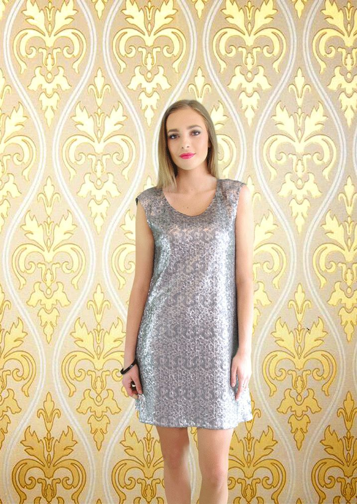 The Shine Dress in Silver
