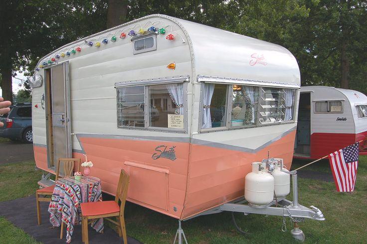 1963 Shasta Rear Entry Vintage Travel Trailer Camper Canned Ham
