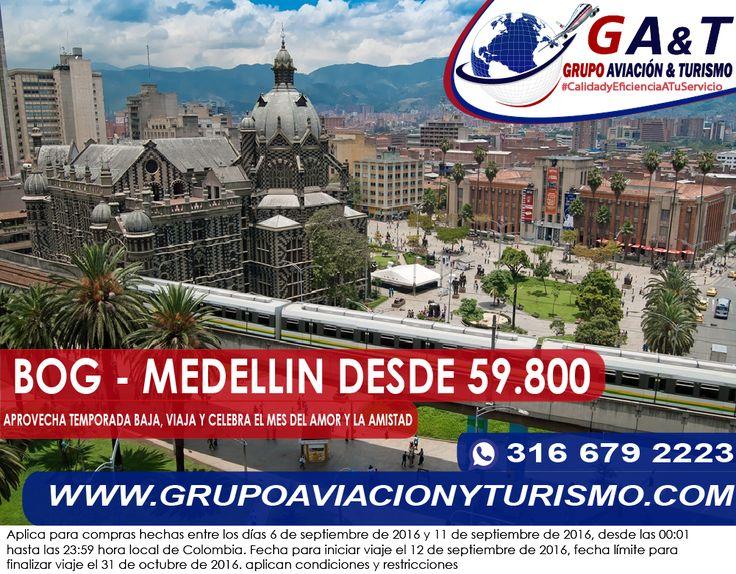 Viaja con los mejores precios, viaja con @GrupoAviacionTurismo #CalidadYEfecienciaATuServicio, Visita nuestra #NuevaSede en la Calle 32 No. 14 - 26, Bogota.