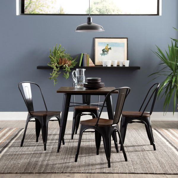 Model 161 T30 161 Collection Industrial Modern 30 Square Dining