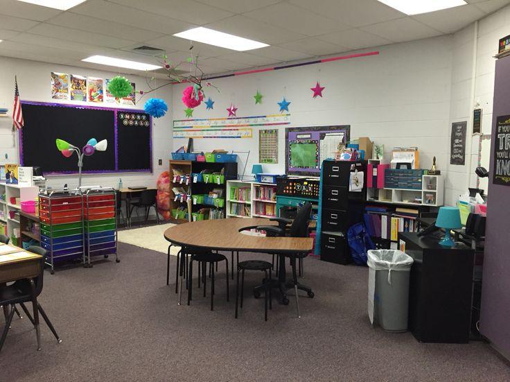 No teacher desk.