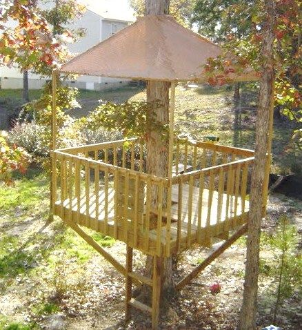 The Treehouse ~ Mom And Her Drill Very Simple, Easy To Build Tree