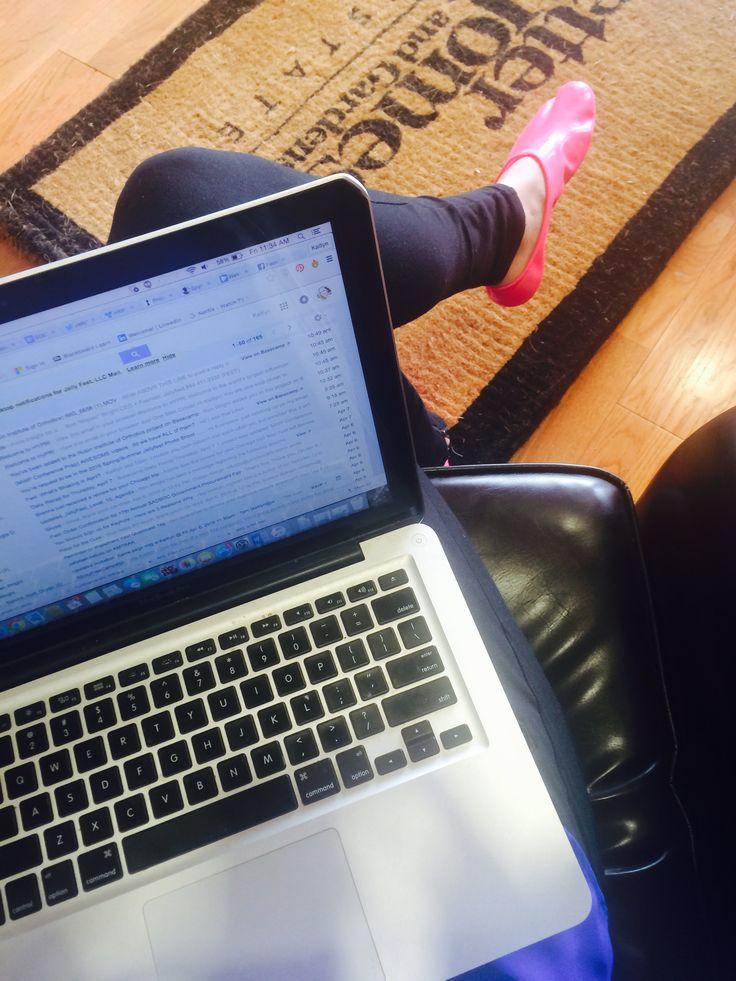 My Jellyfeet make my work day SO much better :) #comfort #getRdone #motivation