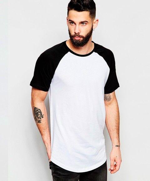 Camiseta raglan swag alongada longline oversized LOJA HDR GAMER 33