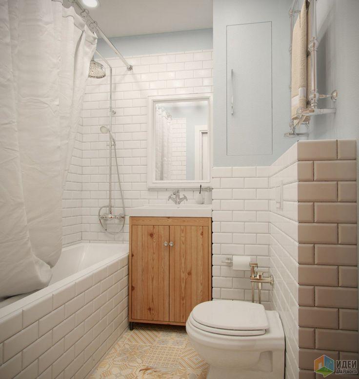 Интерьер ванной комнаты, отделка ванной дерево и плитка