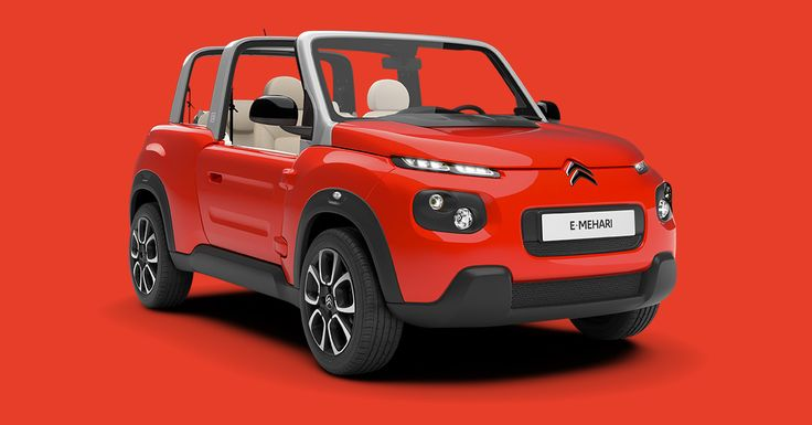 #Citroën #EMEHARI: cheery, all-electric 4-seater cabriolet.  A car which stands as a free spirit!