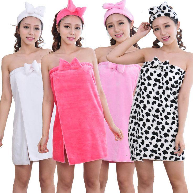 New 2016 Winter Women Flannel Robe Sleepwear Bowknot Bathrobes Robes Female Thickening Bathrobes bath towel topknot for gift