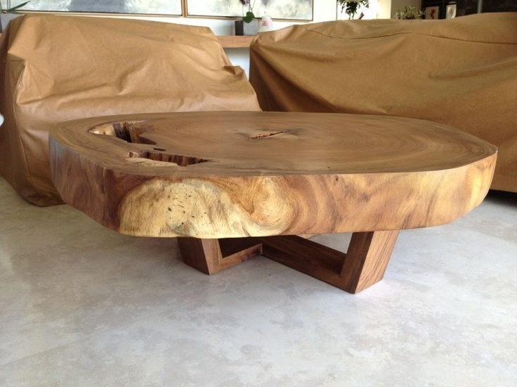 Discover Thousands Of Images About Natural Live Edge Round Slab Side  Table/Coffee Table By Norsk Valley Workshop   I Love This Rustic And Modern  Coffee ...