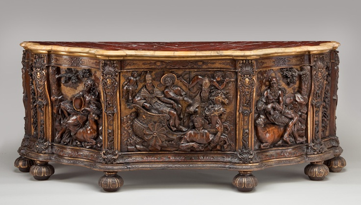Parcel-Gilded Cabinet, Italian, 17th century.