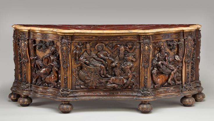 Parcel-Gilded Cabinet, Italian, 17th century.