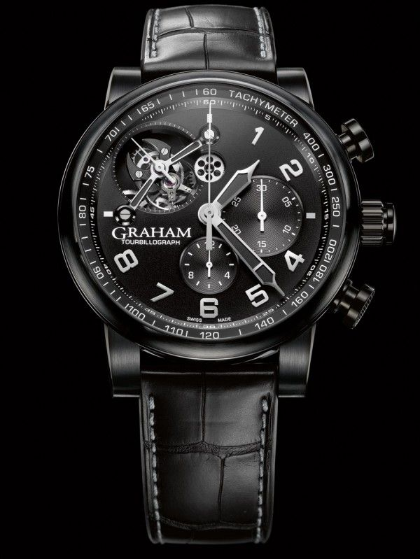Graham Silverstone Tourbillograph Full Black www.ChronoSales.com for all your luxury watch needs, sign up for our free newsletter, the new way to buy and sell luxury watches on the internet. #ChronoSales