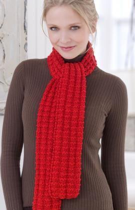 Heartwarming knit scarf knitting pattern (beginner)
