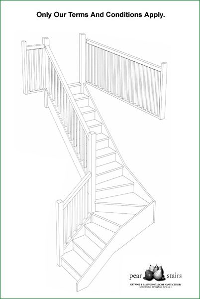 Marley Lane Staircase - 3D staircase design.