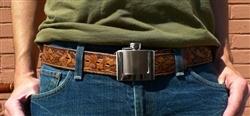 Belt Buckle Hip Flask
