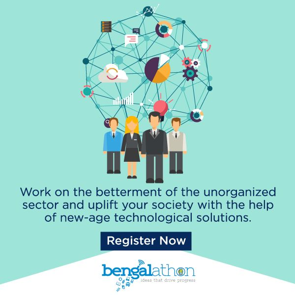 Your single innovative idea can give the unorganized sector a new professional definition. #Bengalathon #Hackathon Register Now:https://bengalathon.wb.gov.in/