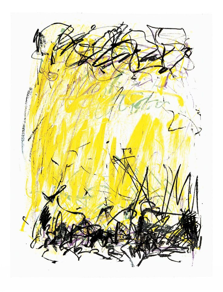 Joan Mitchell - Sides of a River II, 1981. Lithograph on paper