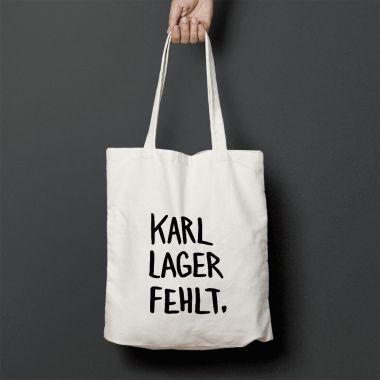 """edition ij Baumwolltasche """"Karl Lager fehlt"""" – selekkt/"""
