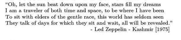 led zeppelin kashmir lyrics | led zeppelin lyrics