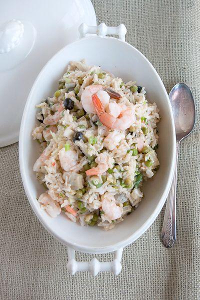 ENSALADA DE ARROZ Y GAMBAS (Shrimp and Rice Salad) #ArrocesFrios