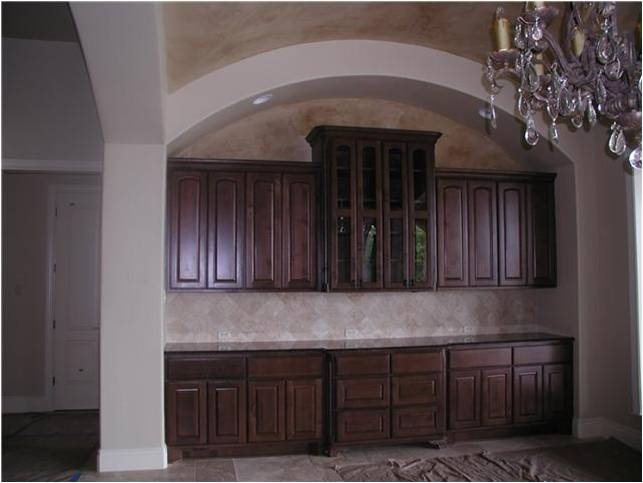 Built In Dining Room Buffet & Storage