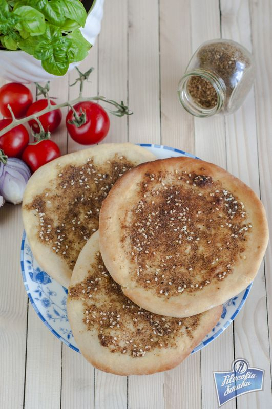 Manaeesh - flatbread from Liban and Syria