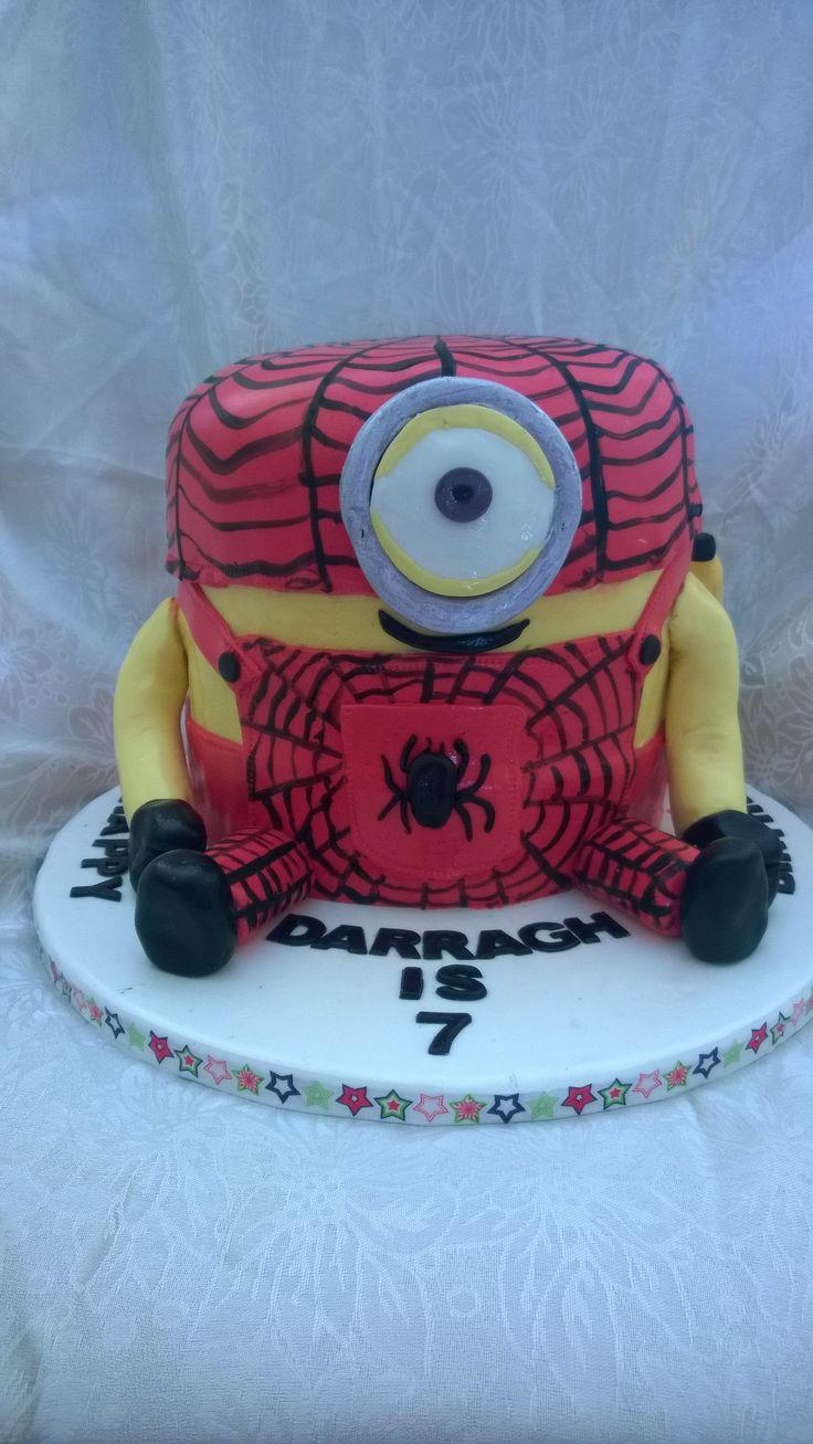 Minion Spiderman Stuart  #lorsyscakesandmore #minion # minioncakes #spiderstuart