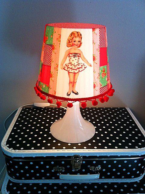 Kinderfeestje Lampjes Pimpen Met Vintage Afbeelding Bij Pink Cherry