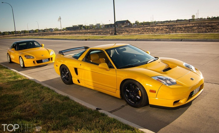 Yellow fever!  Honda S2000 with Acura NSX.