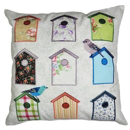 Bird Houses Cushion #Dunelm #Decor #Home #Birds